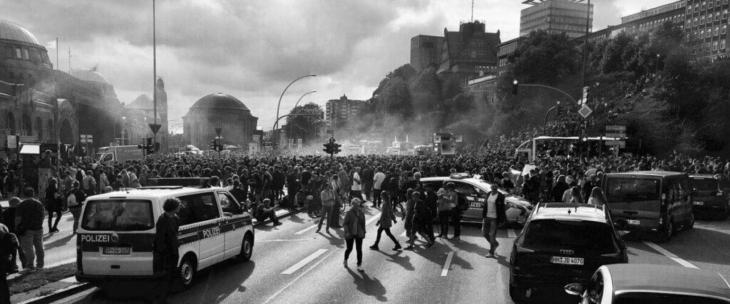 Demonstrationen während des G20-Gipfels in Hamburg.